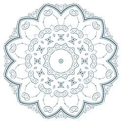 Snowflake Coloring Page 8