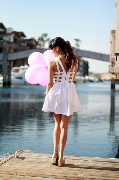 Shining short white ladies dress perfect for summer