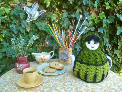 Babushka Darling Tea Cozy..., via Flickr.    This makes me want to start drinking tea. :)