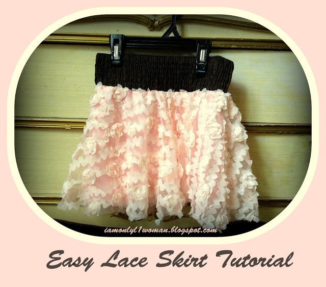 Pink Lace Twirl Skirt Tutorial on A Vision to Remember