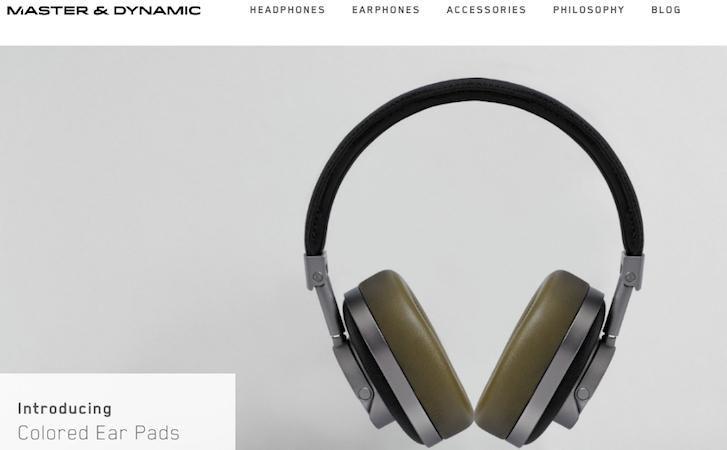 Enkelt design med få knapper    Ecommerce-Website-Design: Master and Dynamic
