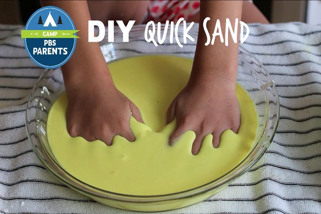 """""""Look out! Don't get stuck in this goopy quicksand!"""" Your kids can have a blast trekking their toys through the danger zone w/ this DIY quicksand from #CampPBSParents"""