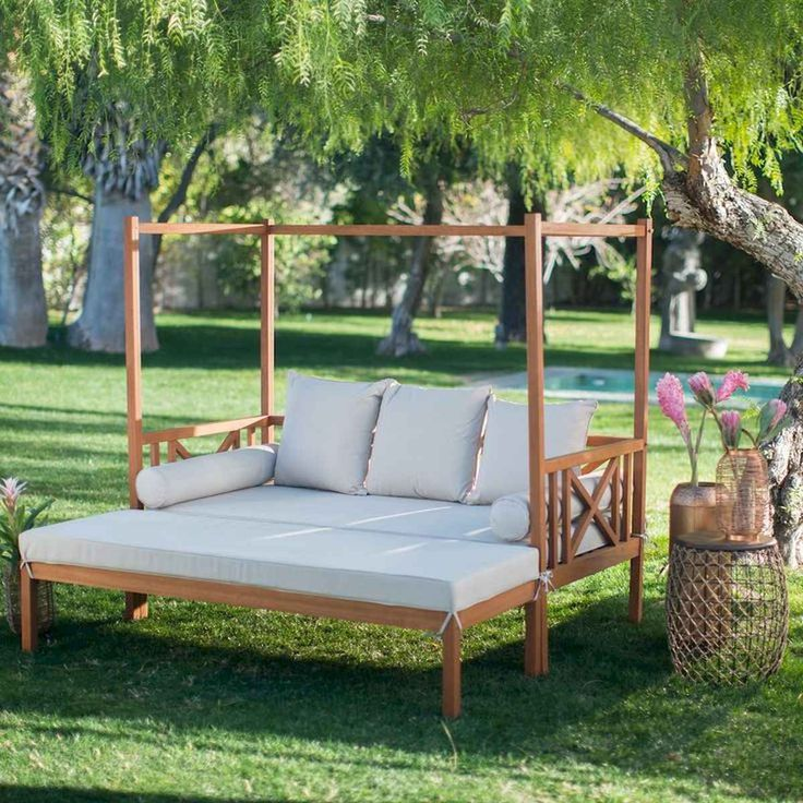 80 DIY Summery Backyard Projects Ideas Make Your Summer ... on Belham Living Brighton Outdoor Daybed  id=74789