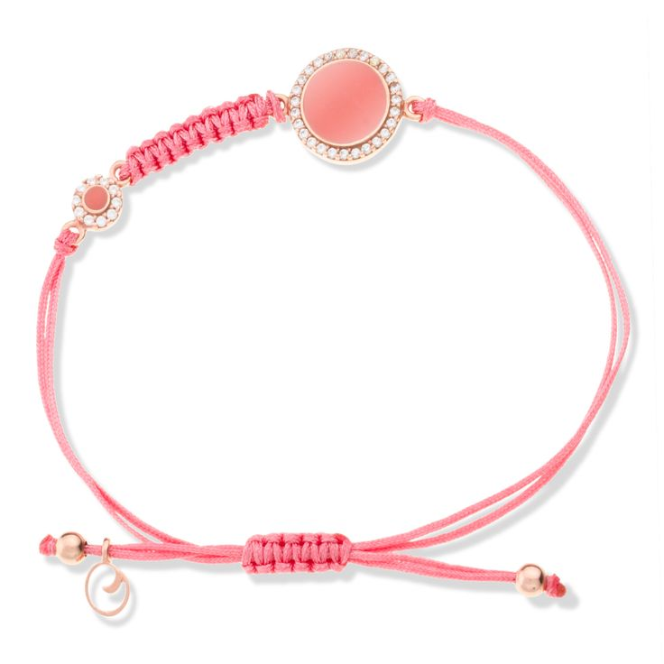 coral enamel and zirconia on pink gold plated silver 925..so lady..so summer.