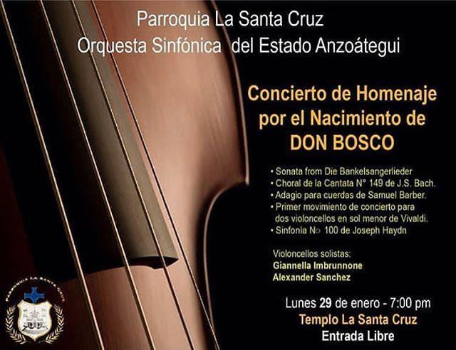 Próximo Concierto OSA Lunes 29 Iglesia Parroquia La Santa Cruz de Puerto La Cruz 7 PM Entrada Libre! #concierto #osa #anzoategui #MiradasMagazine. . Vía @elsistemaanzoategui
