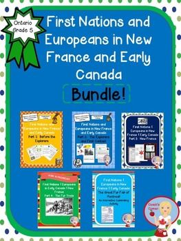 First Nations and Europeans in New France and Early Canada BUNDLE - Grade 5 Ontario Social Studies