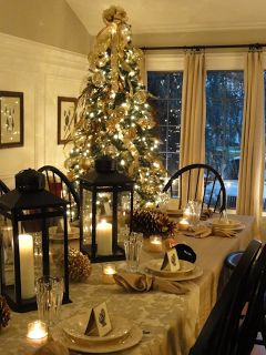 14 contoh desain Dekorasi ruang makan bertema christmas... Merry Christmas buat yang merayakannya...!! ruang makan bertema Christmas , Christmas party decoration.. - Dekorasi pesta saat Christmas, ~ Design Rumah
