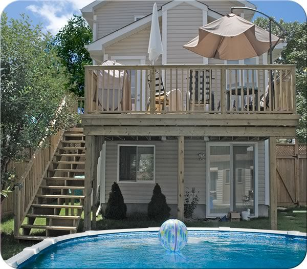 17 best images about deck designs on pinterest 2nd floor for Second floor deck