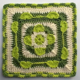 """Beware the Ides of March 9""""/12"""" Afghan Crochet Block Square ~ free pattern ᛡ"""