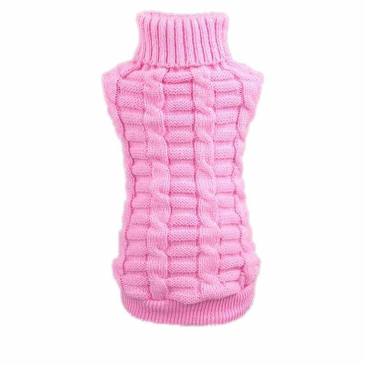 Mosunx Pet Puppy Dog Cat Sweater Knitted Clothes Costume Apparel High Collar Coat Sweatshirts >>> Be sure to check out this awesome product.