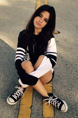 """""""H-hi, uh, I'm Camila. I'm 17 and single. I'm bipolar, i have depression, and I'm anorexic. I'm pansexual and I'm mentally unstable. I love skateboarding and singing. I'm addicted to drugs, cutting, cuddles and hugs. They just take me to my happy place."""" I shrug. """"I also love coffee and going to the park. Introduce?"""""""