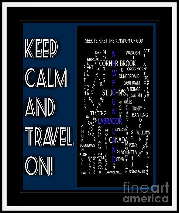 Keep Calm And Pray On Newfoundland Labrador Crosswords by Barbara Griffin - Keep Calm And Pray On Newfoundland Labrador Crosswords Digital Art - Keep Calm And Pray On Newfoundland Labrador Crosswords Fine Art Prints and Posters for Sale