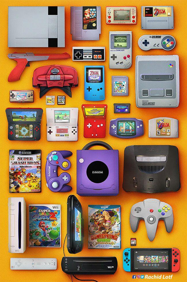 """""""Wakka Wakka Wakka"""": Amazing Nostalgic Video Game Artworks By Rachid Lotf – 90er"""