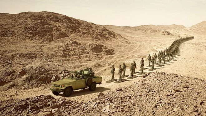 Soldiers in Western Sahara