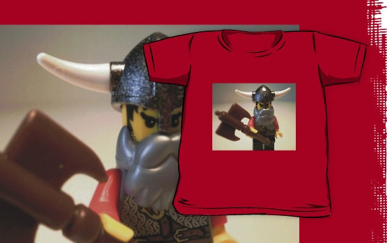 """""""Viking Warrior with Custom Battle Axe, LEGO® Custom Minifigure, by 'Customize My Minifig'"""" Kids Clothes by Chillee 