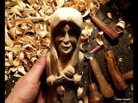 Резьба по дереву. Скульптура. Лицо. В данном видео я показываю один из способов вырезать женское лицо. Подписывайтесь на мой инстраграм https://www.instagram...