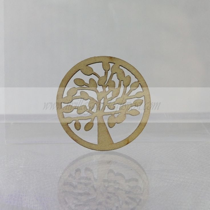 Ciondolo albero della vita in legno