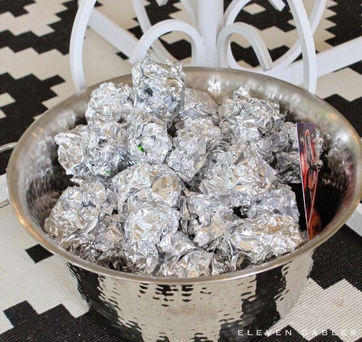 Asteroid Hunt - sweets wrapped in tin foil