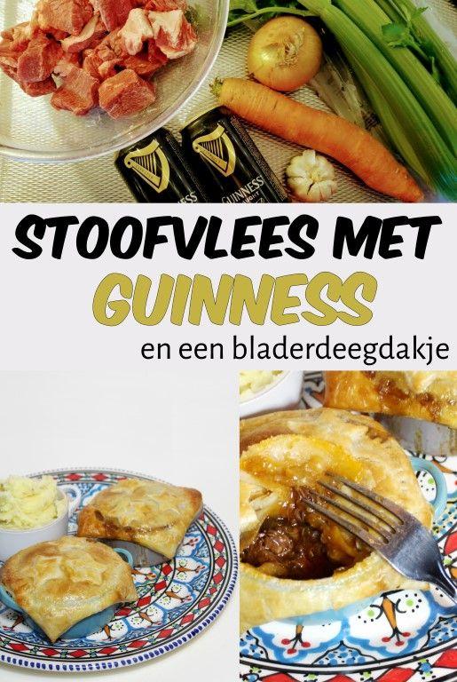 Stoofvlees met Guinness en een bladerdeegdakje - In de winter ook zo'n zin in stoofvlees? Maak dan eens deze Ierse versie van stoofvlees met Guinness! Echt superlekker en helemaal niet moeilijk! :D