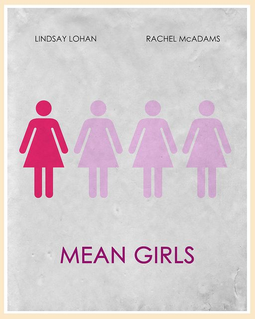 Mean Girls (2004) Minimalist Movie Poster by acereject85
