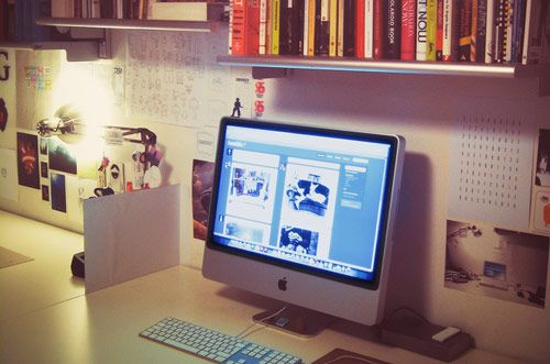 how to organize your dorm room study space