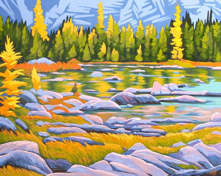 Cascade Lakes, acrylic, 24x30, by Tatjana Mirkov-Popovicki now in the beautiful Buckland Southerst Gallery http://www.bucklandsoutherst.com/Artist-Detail.cfm?ArtistsID=303. Thank you Chris!
