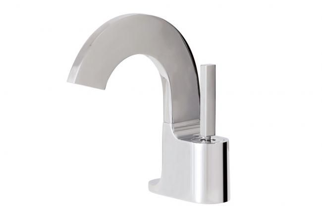 Aquabrass's stylish modern bath faucet / Cut Collection