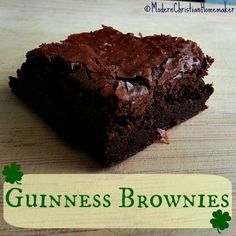 Guinness Black Lager made Guinness Brownies a step above amazing. I could barely get the brownies cooled when my family was vying for who got edge pieces!