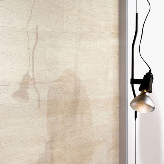 Travertine matt tile in beige.  Size : 600mm x 600mm