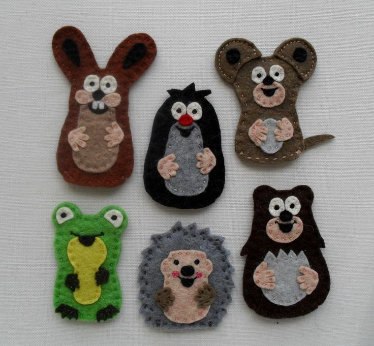 Animal finger puppets: The Little Mole and his от feltonfinger