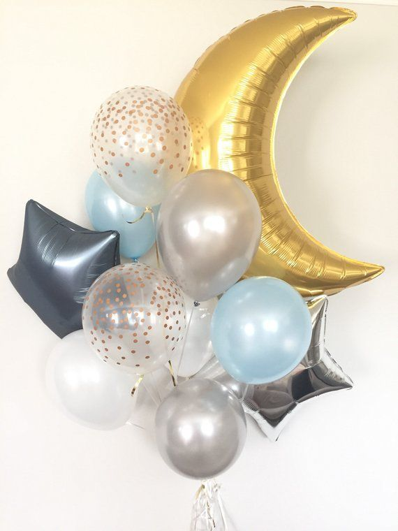 Twinkle Little Star Balloons | Twinkle Little Star Baby Shower Decor | Moon and …