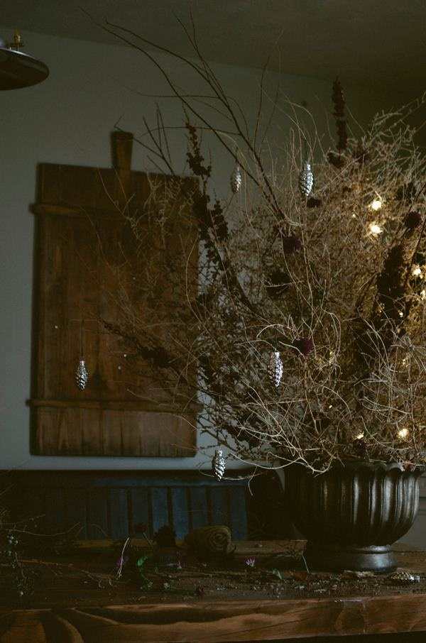 Decorate a tumbleweed for the holidays.