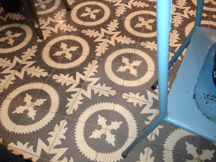 Floor in cafe Sant Cugat