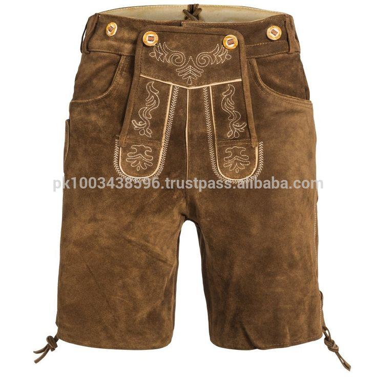 Trachten lederhose kurz herren / Men ligh brown