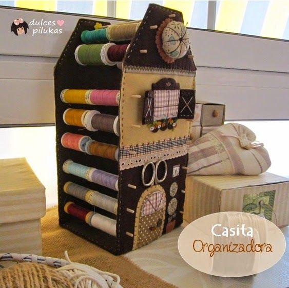 dulces pilukas: Casita Organizadora Costura   http://handcraftpinterest.blogspot.com/