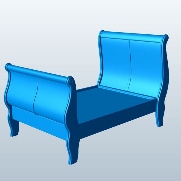 Sleigh Bed 3D Model Made with 123D MeshMixer