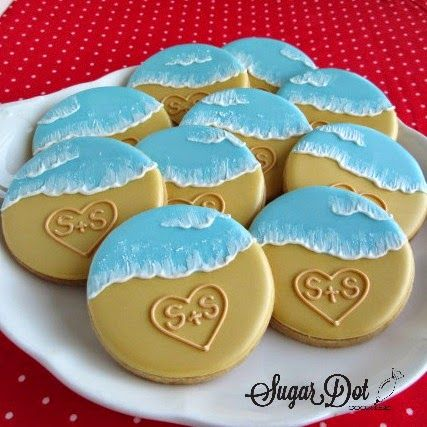 Sugar Dot Cookies: Beach Sugar Cookies