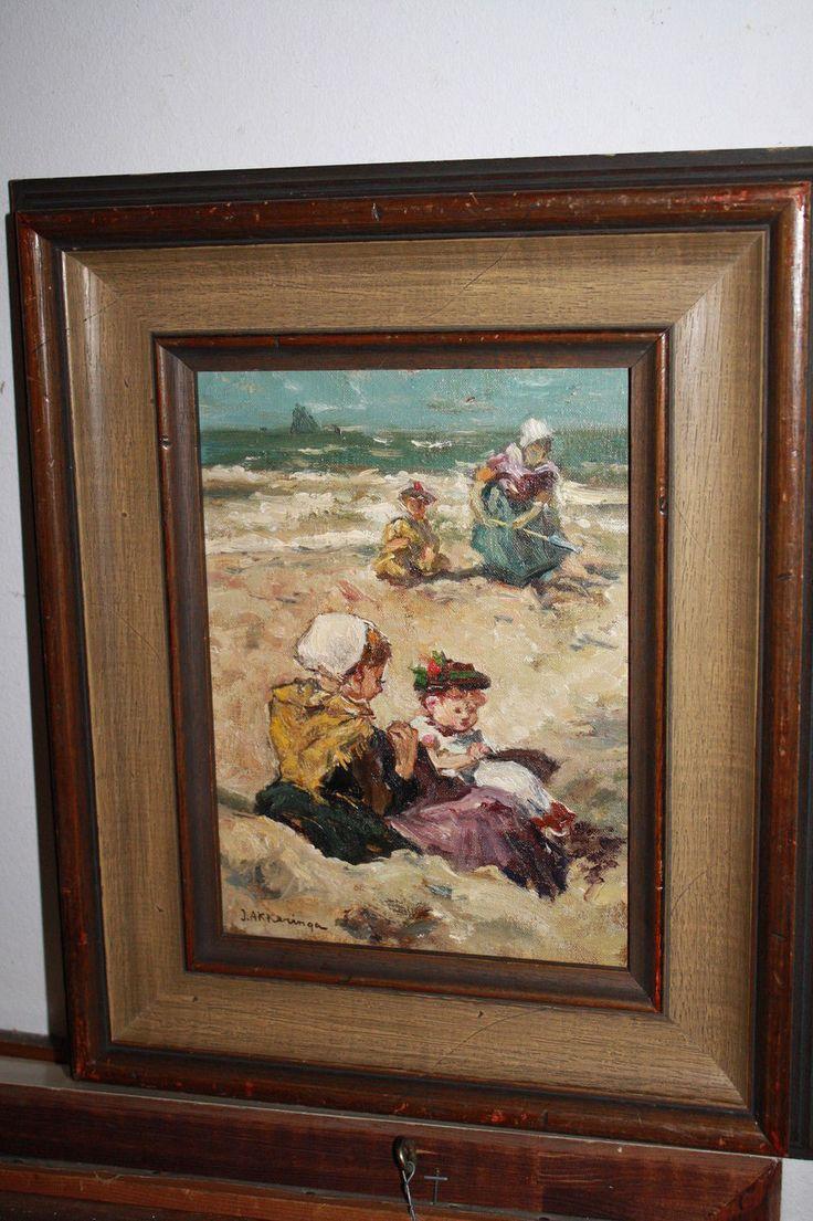 """Купить Йоханнес Эверт Аккеринга """"Дети на пляже"""" 1910-20гг. - Голандия, море…"""
