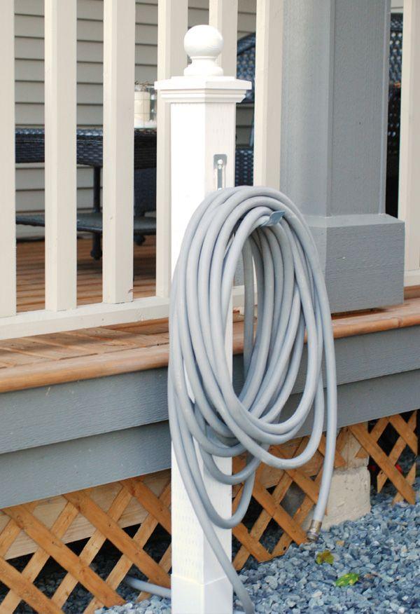 Best 25 hose reel ideas on pinterest wood reels ideas for Garden hose solutions