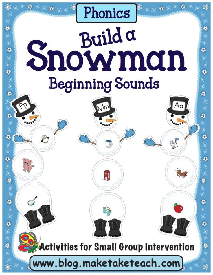 Build a Snowman and more winter themed activities!