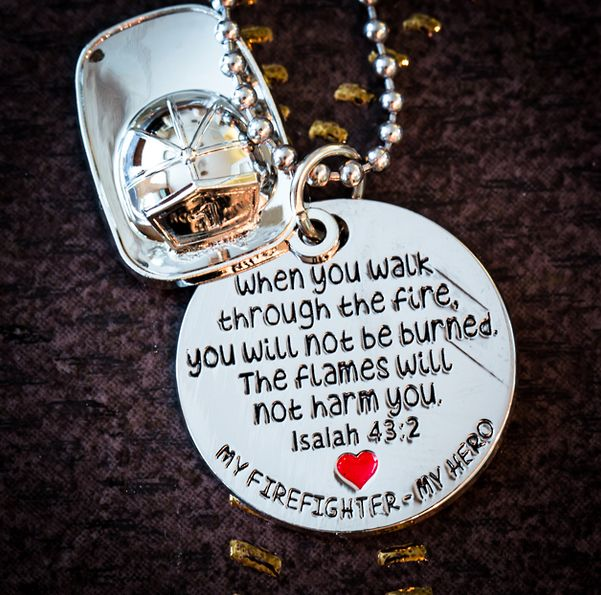 """My Firefighter - My Hero"" -Necklace 
