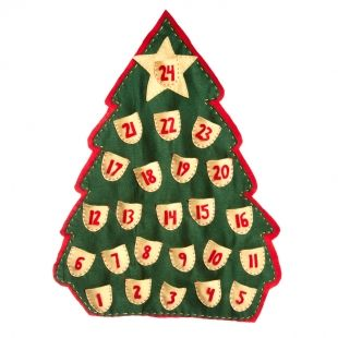 Count down the days till Christmas with a homemade advent calendar in the festive shape of your choice.
