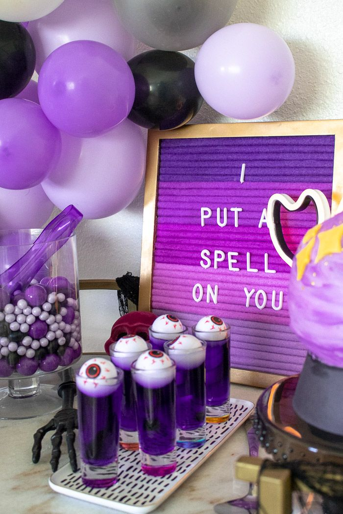 A Purple Mystical Halloween Party with DIY Balloon Arch