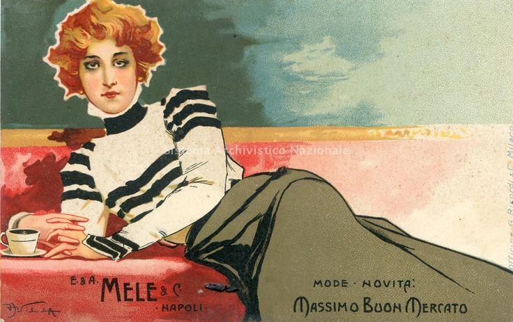 E. & A. Mele & C., cartolina, Napoli 1900 - Aleardo Villa