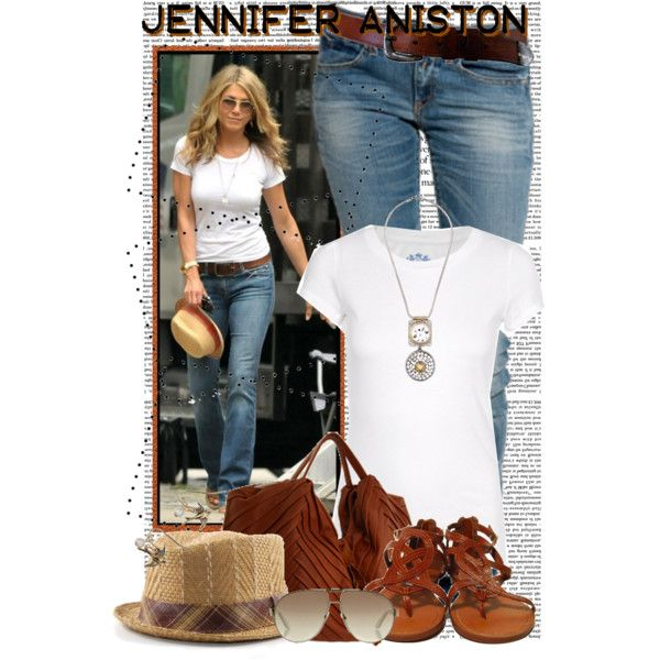 Jennifer Aniston, created by #crystal85 on #polyvore. #fashion #style Juicy Couture #Replay