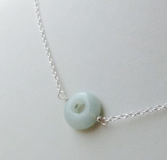 Amazonite Donut Necklace  bridemaids necklace by MingJewelsChic
