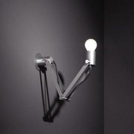 Modular Nomad  Minimal short E27 Wandlamp aluminium