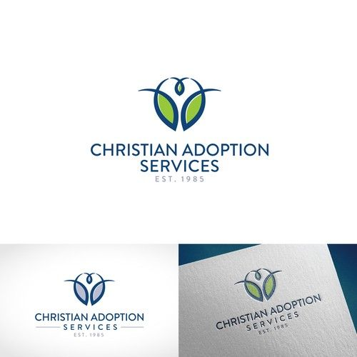 Christian Adoption Services �20Faith-based Adoption Agency new logo with family home or family tree imagery