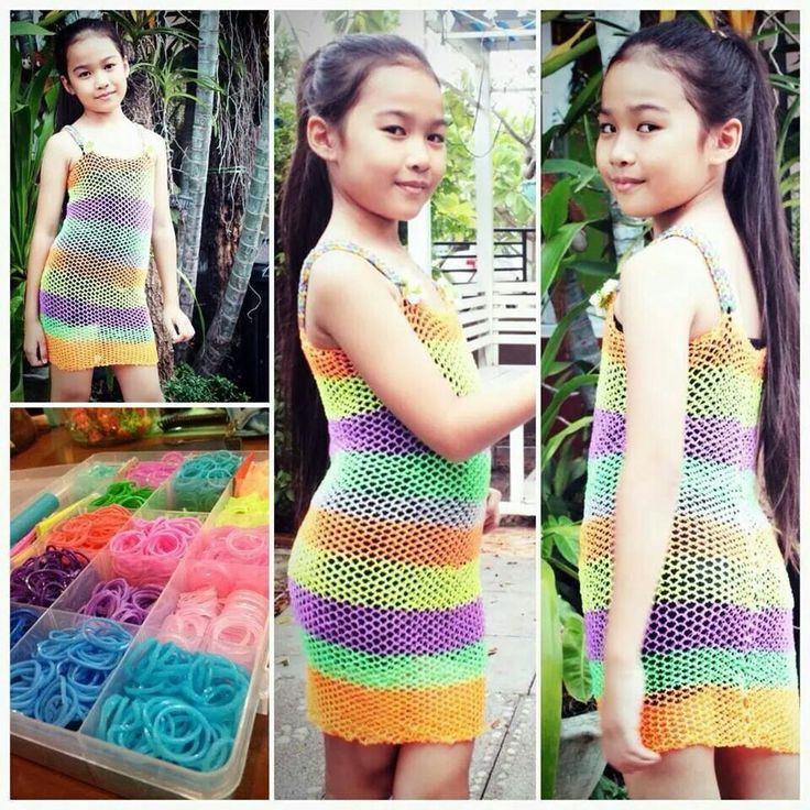 Rainbow loom child dress Ectended dragonscale pattern
