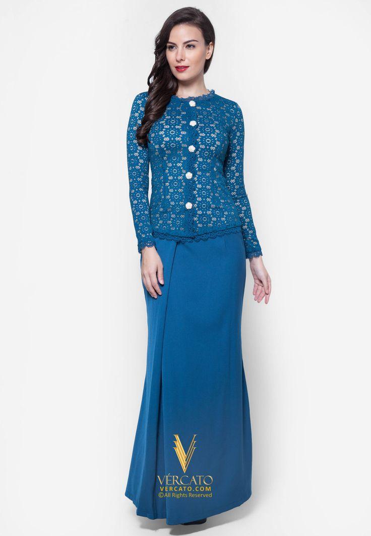 Baju Kebaya Lace - Vercato Mia in Green. Buy baju keaya with flower lace. SHOP NOW: www.vercato.com.
